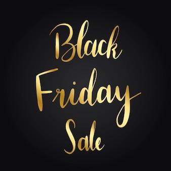 Vecteur de style typographie vente vendredi noir