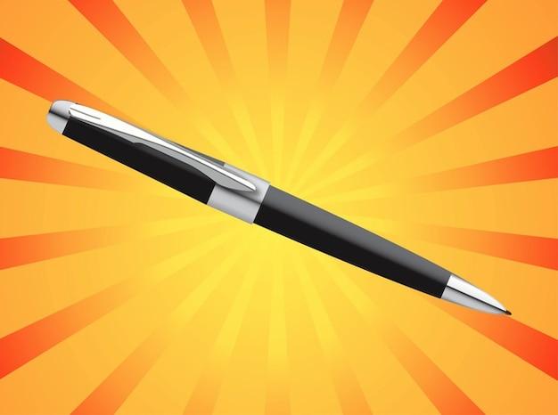 Vecteur de stylo travail d'écriture de bureau