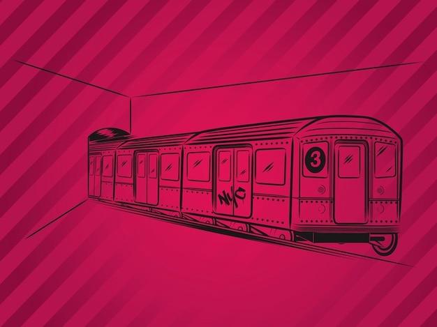 Vecteur de subway train de transport en commun métropolitain