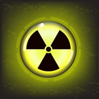 Vecteur de symbole d'avertissement de rayonnement nucléaire