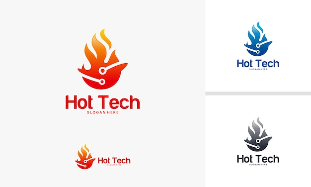 Vecteur de symbole de technologie de feu chaud