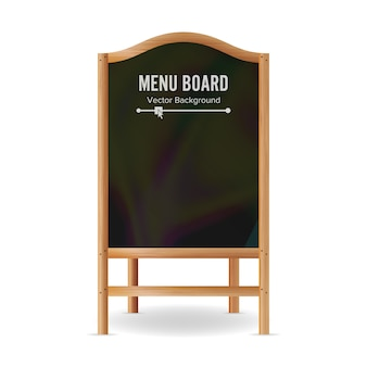 Vecteur, tableau noir, menu