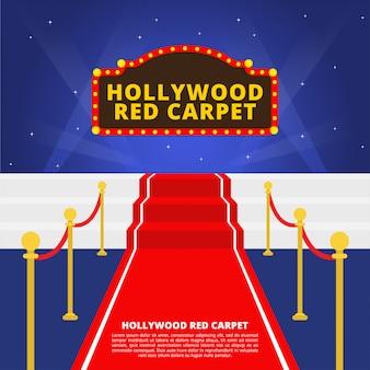 Vecteur de tapis rouge hollywoodien