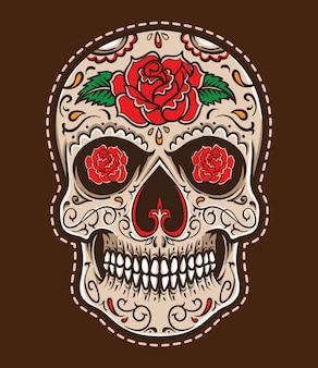 Vecteur de tatouage crâne