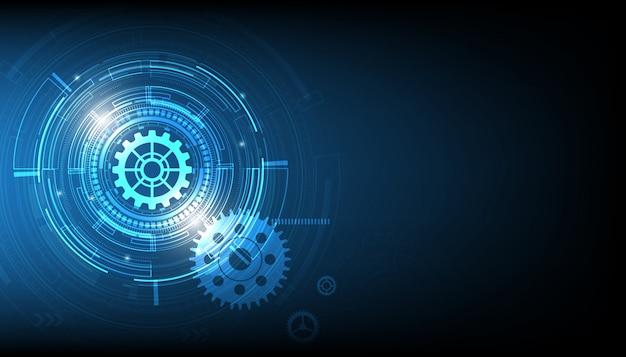 Vecteur tech cercle et technologie