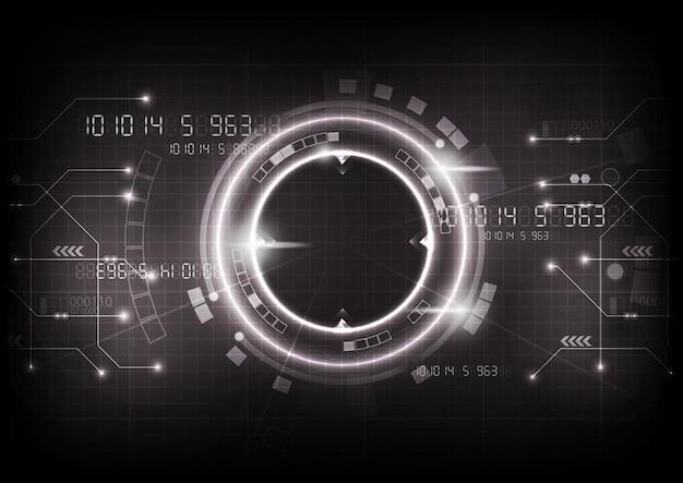 Vecteur de technologie de jeu gris futuriste