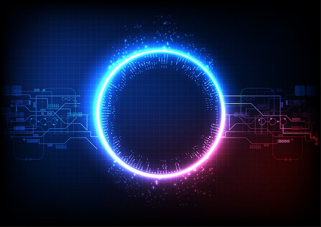 Vecteur de technologie de lumière rose bleu