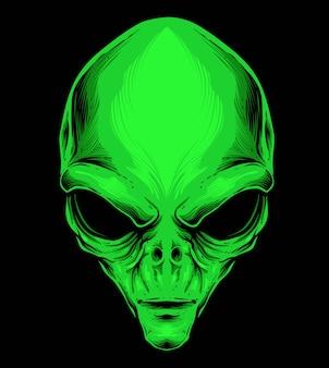Vecteur tête d'alien