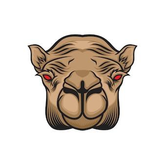 Vecteur tête de chameau