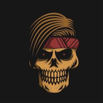 Vecteur tête de crâne