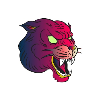 Vecteur tête jaguar