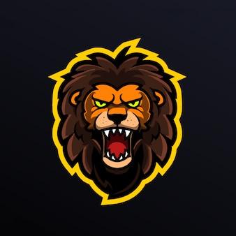 Vecteur de tête de lion