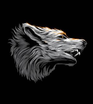 Vecteur de tête de loup