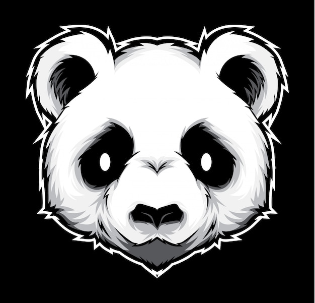 Vecteur tête panda
