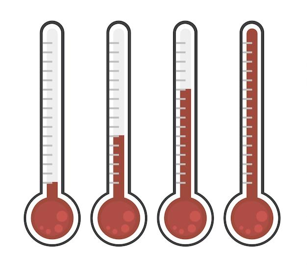 Vecteur de thermomètre icône design plat.
