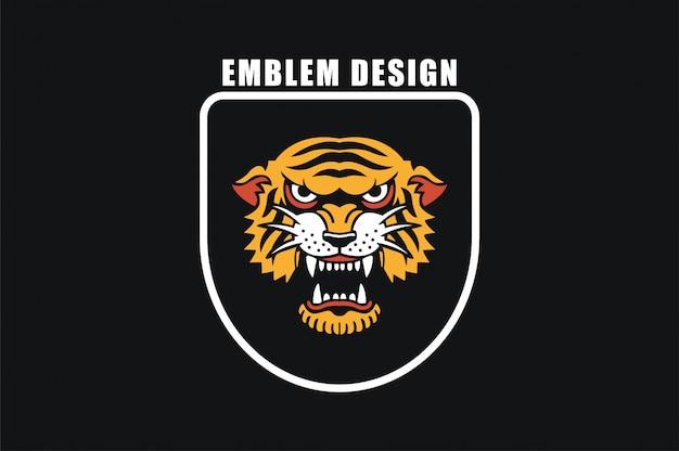Vecteur tigre en colère