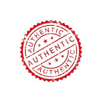 Vecteur de timbre authentique
