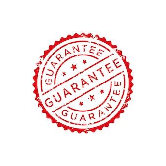 Vecteur de timbre de garantie