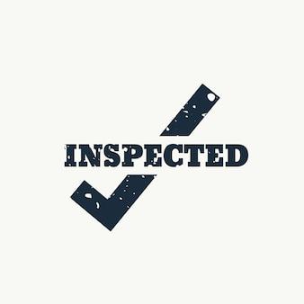 Vecteur timbre inspecté