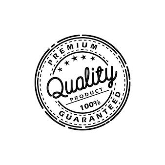 Vecteur de timbre de produit de qualité garantie