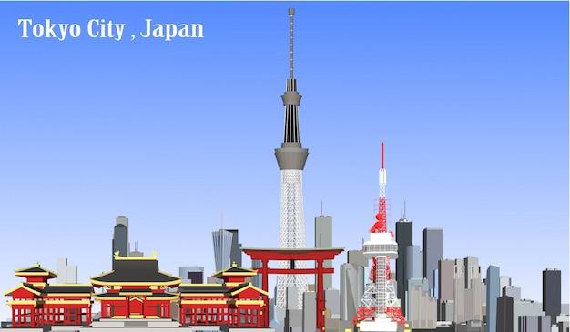 Vecteur tokyo, japon
