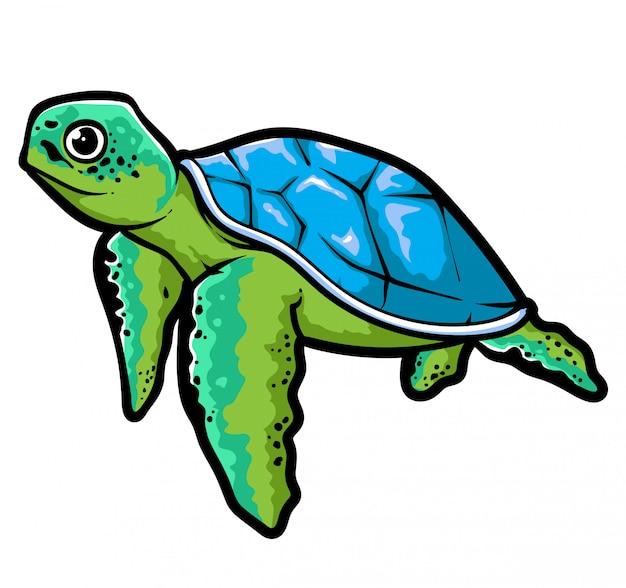 Vecteur de tortue de mer
