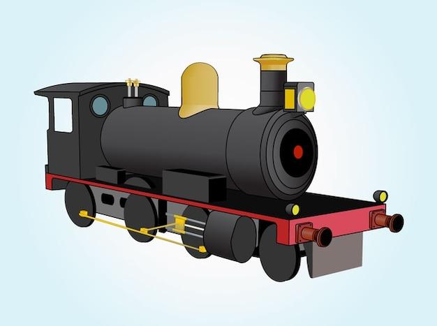 Vecteur de train graphique de locomotive