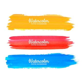 Vecteur de traits colorés aquarelle abstraite