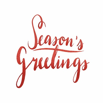 Vecteur de typographie aquarelle seasons greetings
