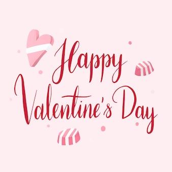 Vecteur de typographie happy valentin