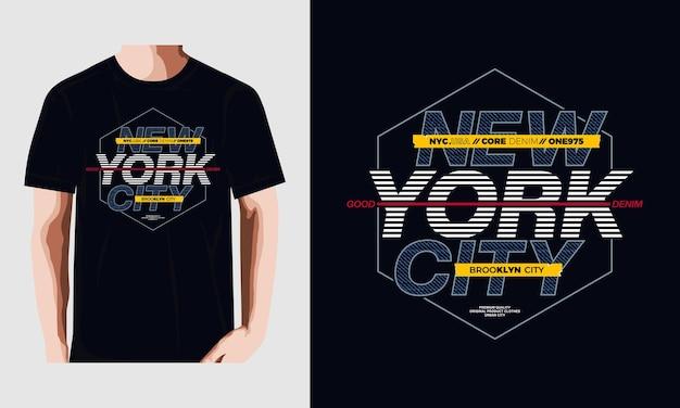 Vecteur de typographie de t-shirt graphique nyc vecteur premium