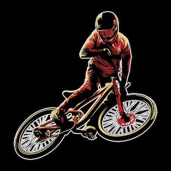 Vecteur de vélo de montagne
