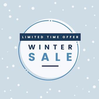 Vecteur de vente d'hiver offre à durée limitée