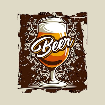 Vecteur de verre de bière