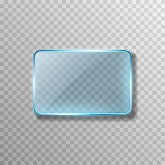 Vecteur verre bleu effet de transparence fenêtre miroir reflet éblouissement png verre png fenêtre