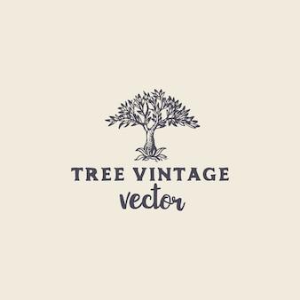 Vecteur vintage arbre