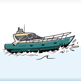 Vecteur de vitesse de transport de bateau