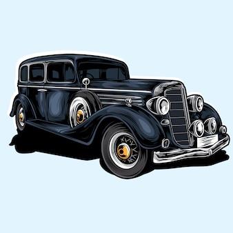 Vecteur voiture mafia
