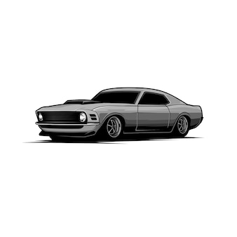 Vecteur voiture muscle