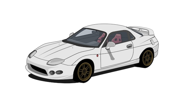 Vecteur de voiture de sport