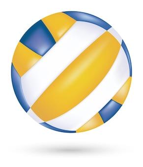 Vecteur de volleyball de plage sur fond blanc
