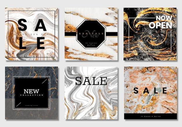 Vecteurs de collection de bannière de vente luxueux