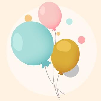 Vecteurs de conception de ballons festifs colorés