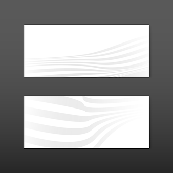 Vecteurs de conception de bannière abstraite blanche