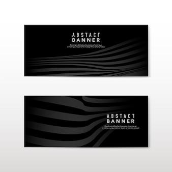 Vecteurs de conception de bannière abstraite noir