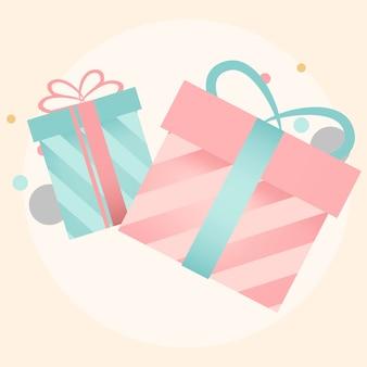 Vecteurs de conception de boîte cadeau coloré