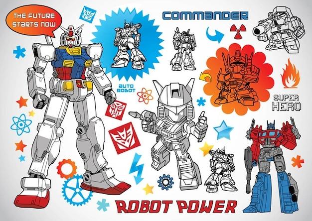 Vecteurs du robot