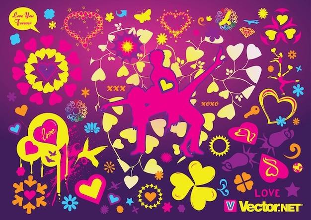Vecteurs fraîche d'amour