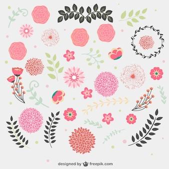 Vecteurs graphiques gratuits floraux