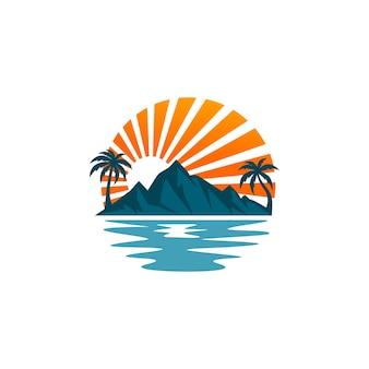 Vecteurs de logo de plage